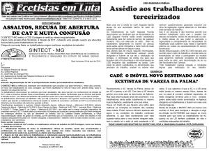 ECT RECUSA EMITIR CAT(COMUNICAÇÃO DE ACIDENTE DE TRABALHO) PARA TRABALHADORES ASSALTADOS